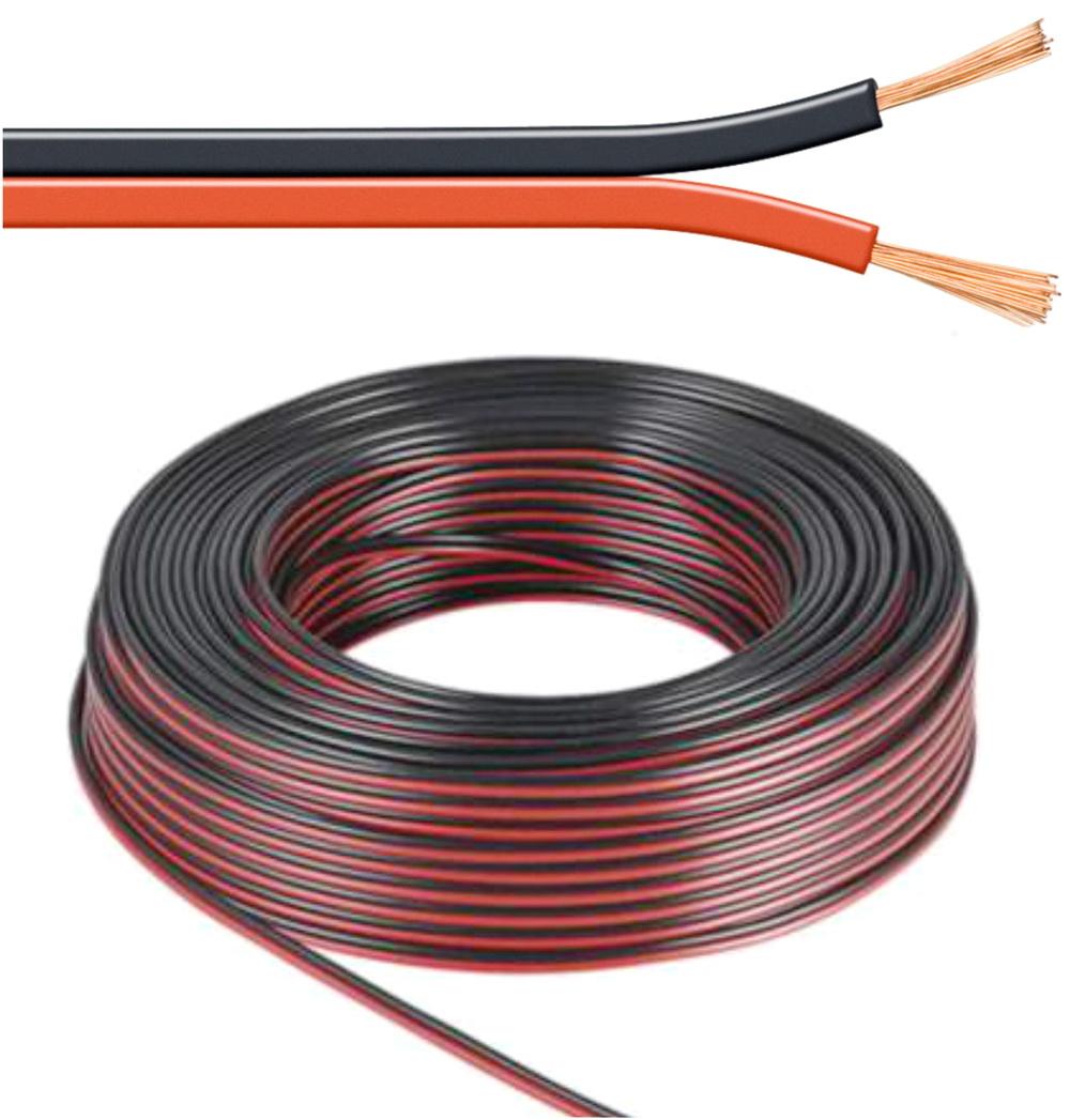 100 m lautsprecher kabel 1 5 mm rot schwarz boxenkabel. Black Bedroom Furniture Sets. Home Design Ideas