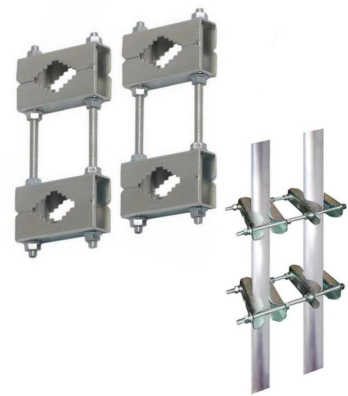doppel schellen f r mast an mast montage set mit 4. Black Bedroom Furniture Sets. Home Design Ideas