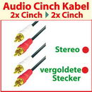 1,5 m Audio - Cinch Kabel ; vergoldete Stecker ; Stereo ; Home Cinema Qualität