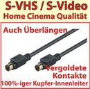 S-VHS / S-Video Kabel Premium 5,0 m; vergoldet