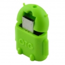 USB OTG Mini Adapter High Speed : A-Buchse auf  Micro B-Stecker; Android style