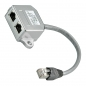 Preview: Y-Adapter, Verteiler, Splitter: 1x Ethernet [LAN, Netzwerk] + 1x ISDN, RJ45