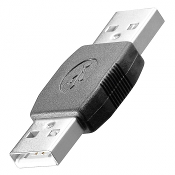 USB 2.0 Hi-Speed Adapter : Stecker auf Stecker, Typ A, Gender Changer, männlich