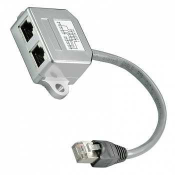 Netzwerk Splitter; Verteiler 2-fach; Cat 5 [Portdoppler, Y-Adapter] LAN Ethernet