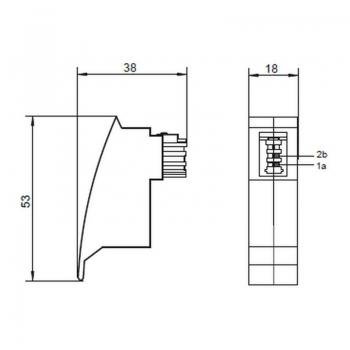 Fritz Box Adapter; TAE F Stecker > RJ45 Buchse von Satelliten Markt Köln