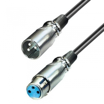 5,0 m XLR/Cannon Mikrofon Kabel male/female symmetrisch; Stecker an Buchse