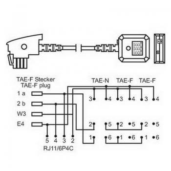 telefon tae verl ngerung adapter tae f stecker tae nff und rj11 buchse 20cm von satelliten. Black Bedroom Furniture Sets. Home Design Ideas