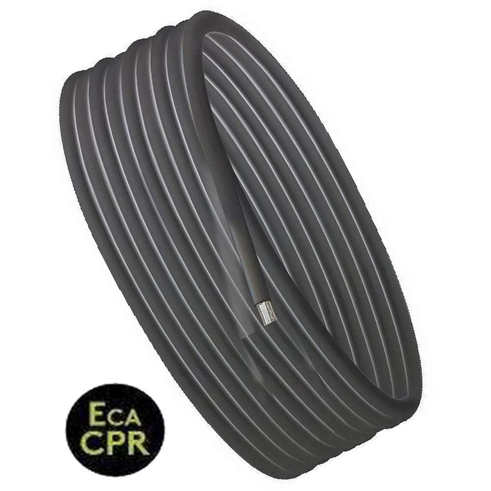 für Aussen- und Innen UV beständig Erdkabel 50 m Koax Kabel schwarz