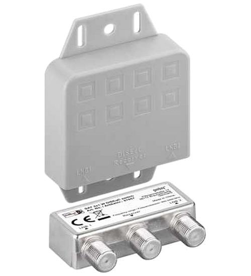 diseqc 2 1 schalter mit wetterschutzgeh use f r digital und hdtv von satelliten markt k ln. Black Bedroom Furniture Sets. Home Design Ideas