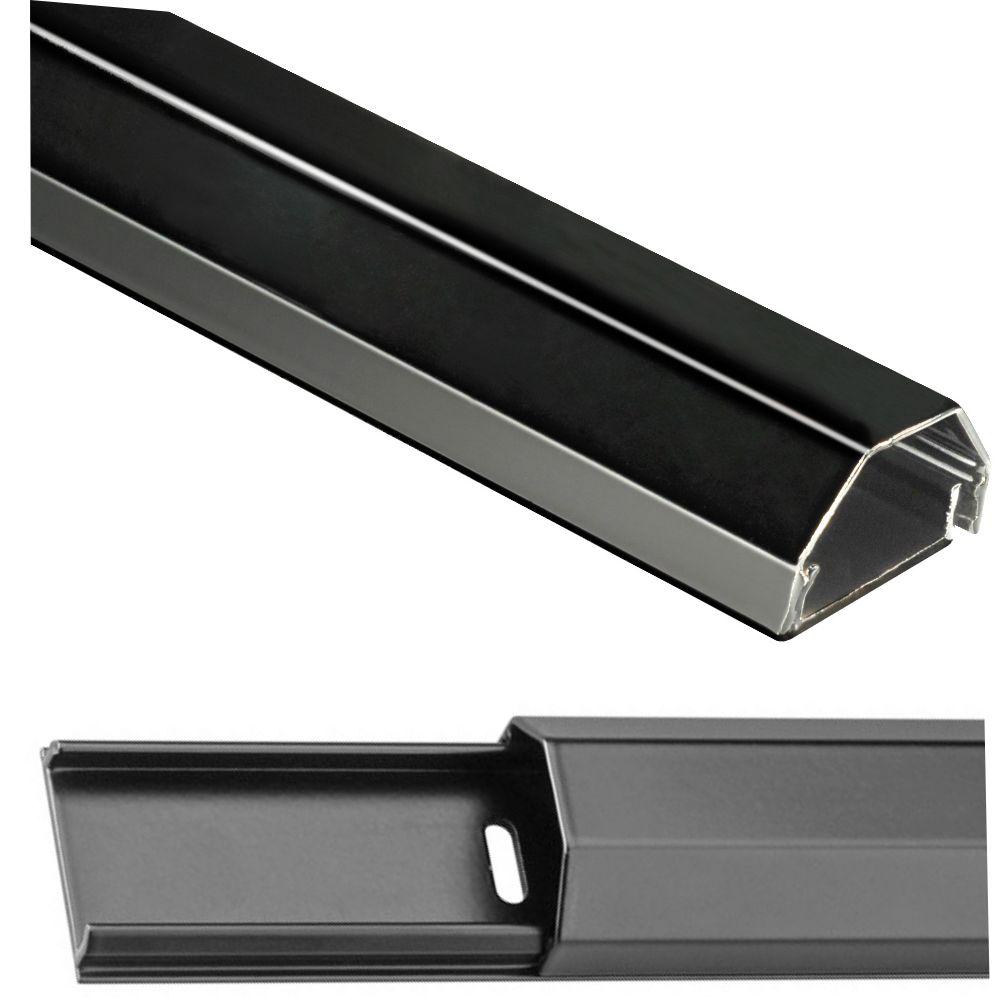 Alu Kabelkanal 110 cm; schwarz; 3,3 cm breit; inkl. Montagematerial ...