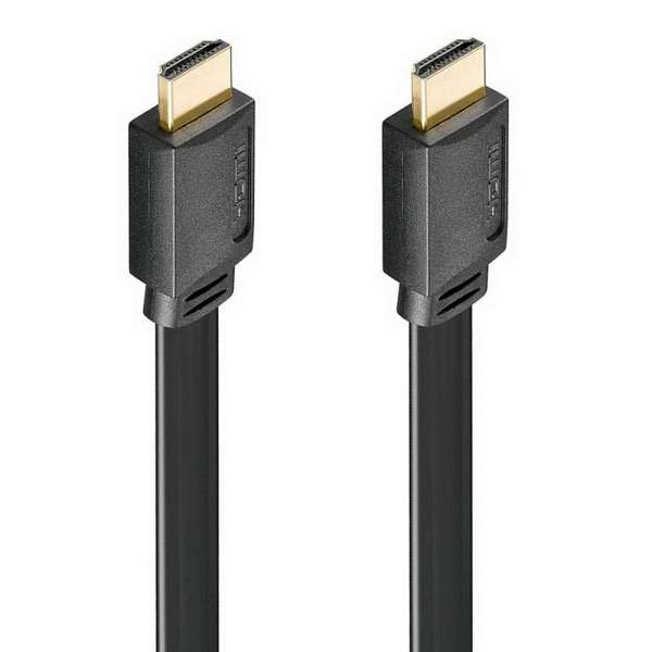 1,5 m HDMI Flach-Kabel; nur 3,3mm dick; High Speed mit Ethernet; HDTV, 4K, 3D
