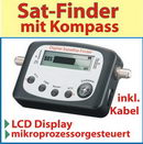 Sat - Finder Digital mit LCD Display und Kompass
